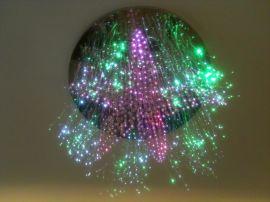 三菱光纤吊灯, 光纤水晶吊灯, 海星水晶光纤灯