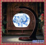 景德鎮青花瓷創意陶瓷檯燈臥室牀頭燈 中式會所酒店裝飾檯燈