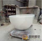 供应优质玻璃钢蛋长形前台雕塑批发