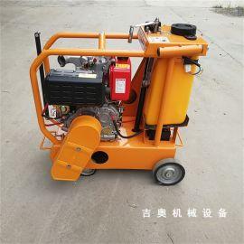 混凝土路面地面电动马路切割机 柴油马路切割机