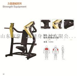 健身房器材挂片式大黄蜂力量器械坐式推胸练习器