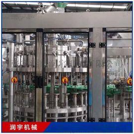 冲洗灌装封盖三合一等压含气灌装机