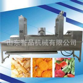 全自动油炸流水线网带式油炸生产线连续式油炸成套设备
