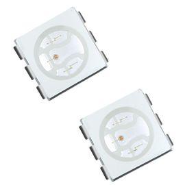 厂家直销smd5050rgb灯珠缺口为正金线发光二极管 全彩led贴片光源