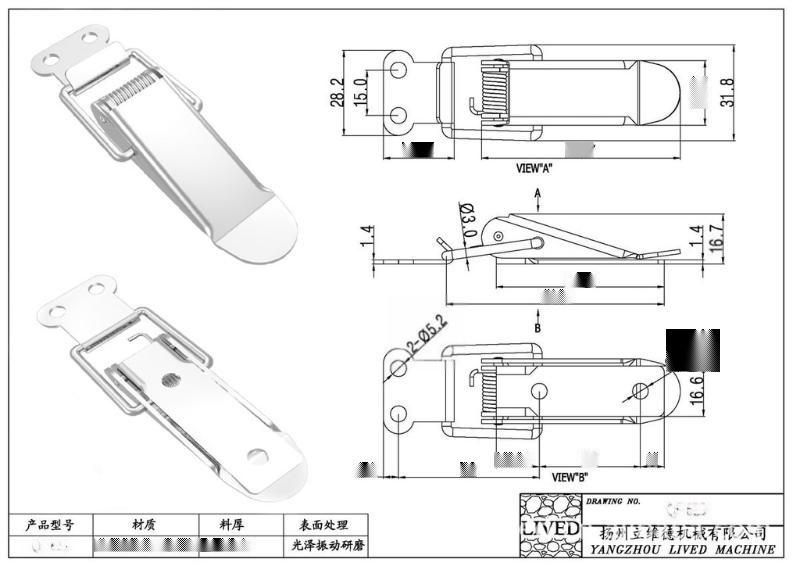 厂家供应QF-629 **S304不锈钢电器箱柜搭扣