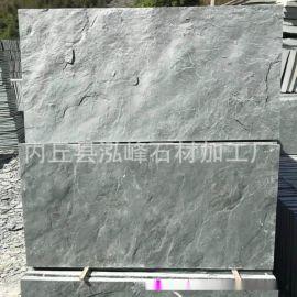 厂家直销古石墙砖 天然荷叶绿板岩蘑菇石 绿色蘑菇石