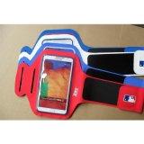 跑步健身运动莱卡料手机臂带 双扣可调节臂围手机臂套 可指纹解锁