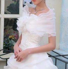 新娘蕾絲披肩 婚紗禮服配件夏季圍巾披肩 雪紡 外貿出口單品2014