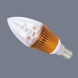 touve托維LED燈杯燈泡(3W E14小螺口,金色蠟燭尖泡)