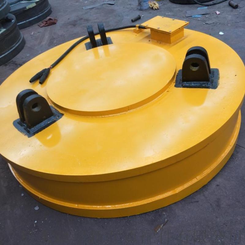 废钢吸盘厂家   耐高温耐腐蚀电磁铁 工业圆形磁盘