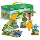 欢乐客 早教宝宝玩具五合一积木颗粒小套装狮子儿童智力玩具