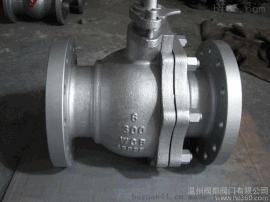 Q41F-150LB美标铸钢法兰球阀  碳钢美标球阀