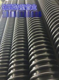 广东厂家直销HDPE缠绕增强管(B型)节流式,结构壁管,耐腐蚀抗压,不漏水
