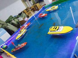 儿童游乐方向盘遥控船 遥控船充气水池