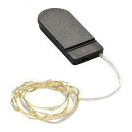 LED铜线灯串CR2032纽扣电池盒灯串圣诞装饰灯节能装饰灯串