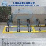 睿戎碳素钢卡位式自行车停放架  圆笼加厚防水抗压耐磨停车架
