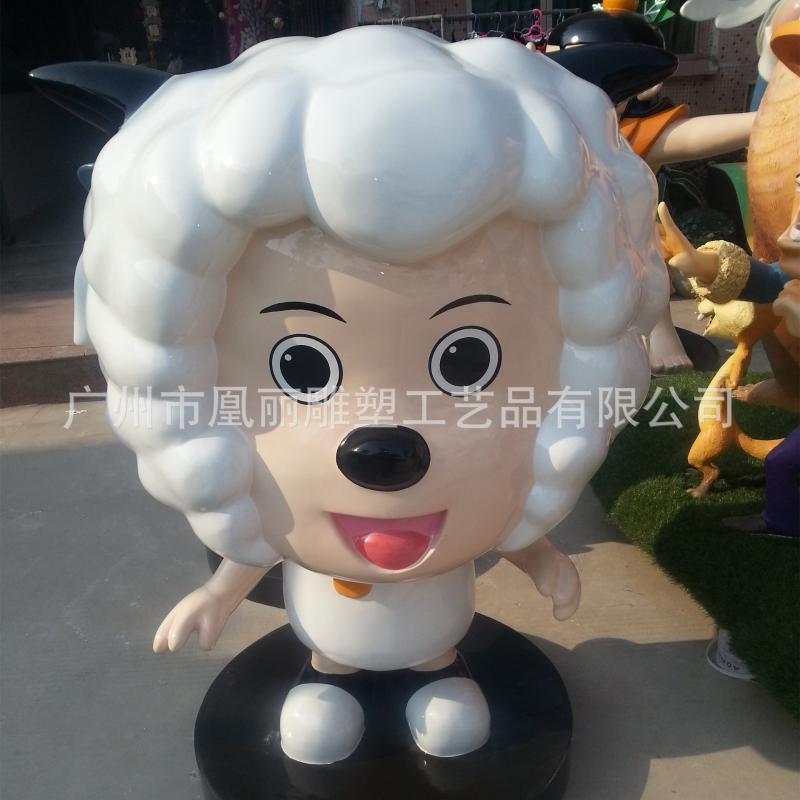 玻璃钢城市动漫主题景观雕塑 短期宣传广告摆件泡沫雕塑定制