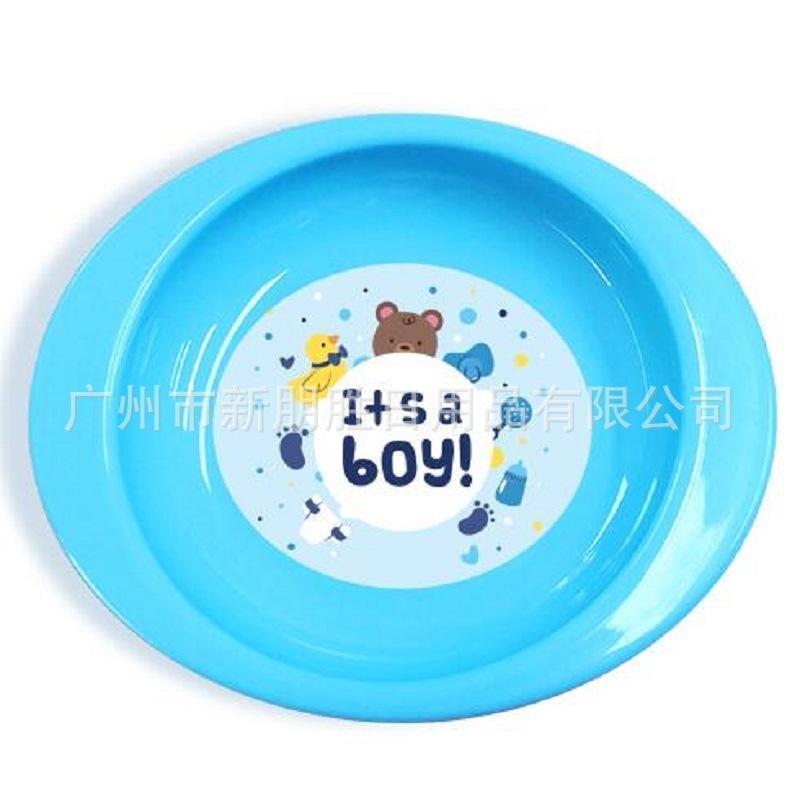新款婴儿餐盘 防滑防摔卡通硅胶辅食碗 儿童餐具