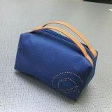 韓版厚實休閒手提帆布包媽咪 純色便攜零錢包男女收納鑰匙化妝包