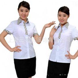 雪纺衫女 短袖职业装 女装大码上衣白色夏装弹力工装衬衫厂家批发