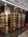 酒店不鏽鋼恆溫酒櫃 別墅會所黑鈦金不鏽鋼酒櫃 酒窖定製