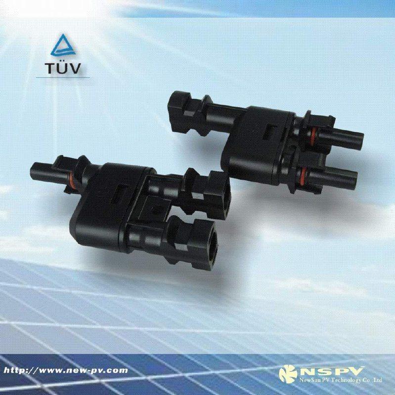 光伏轉接頭/2轉1三通接頭/PV防水連接器
