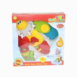 斯高 CIKOO 音乐牙胶摇铃 婴幼儿玩具 斯高玩具