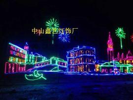 路灯杆图案灯、LED平面造型灯、3D立体圣诞系列、发光路灯杆
