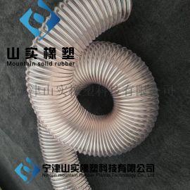 pu钢丝软管透明耐磨,pu风管钢丝伸缩管,pu透明钢丝伸缩通风管,pu钢丝伸缩吸尘管
