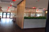 湖北商业广场吊顶木纹铝方管 不规则外墙凹槽铝方管