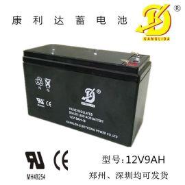 安防报警器用12V9AH康利达蓄电池 儿童玩具车铅酸电池