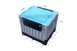 西诺**加厚周转箱 可折叠式卡板箱 小门方便取物 大型塑料高质量中装箱1217D