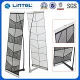 加强落地型L型尼龙折叠网架 单/双 铸铁底脚 资料架展示架文件架