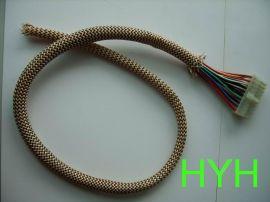 厂家热销电脑电源线、端子线编织网管,扁丝编织网管