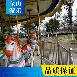 安徽淮北豪华旋转木马  景区儿童游乐设备