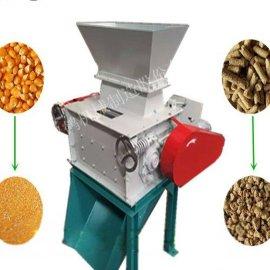山东双鹤 玉米破碎机大小可调 移动式破碎设备 饲料破碎机