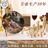 5寸歐式加厚盤架展示架工藝品紀念盤時鍾掛鍾陶瓷盤食具禮品禮盒相框