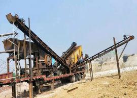 河南友邦机械时产350吨石料简易移动破碎站