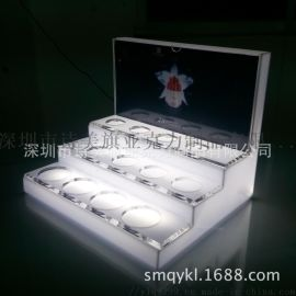 厂家批发定做商场品类亚克力展示架 LED发光亚克力