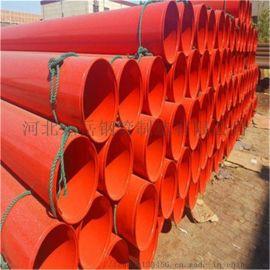 西安 防腐涂塑螺旋钢管 衬涂塑复合管 热浸塑波纹管
