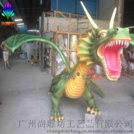 仿真动物雕塑_侏罗纪公园恐龙玻璃钢雕塑_园林景观展览摆件