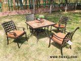 瓷磚方桌庭院鑄鋁桌椅花園桌椅休閒傢俱