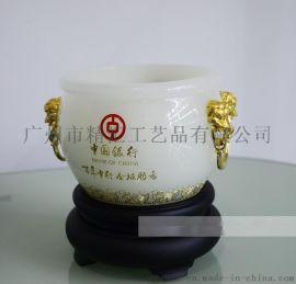 银行年会纪念品定做,银行年会礼品定做厂家,琉璃聚宝盆商务礼品,广州工艺品礼品定做