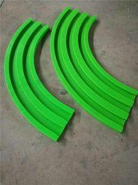 绿色侧弯导轨,生产线传输导轨,超高分子曲线导轨