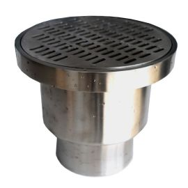 不锈钢重型洁净地漏、 格栅面板直排地漏、吨位级地漏