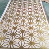 中山別墅會所創意造型金屬屏風 花紋不鏽鋼屏風定做