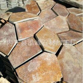 厂家直销 锈色蘑菇石 环保艺术背景墙石材装饰 别墅外墙砖效果图