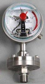 耐震电接点隔膜压力表