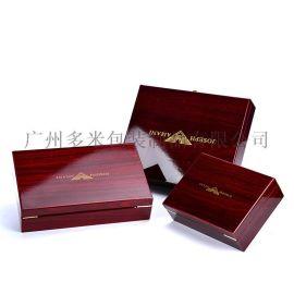 皮带木盒包装盒 仿实木油漆木质礼品盒