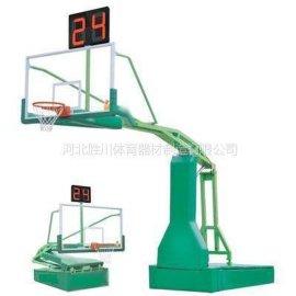 盐山供应电动液压移动钢化玻璃篮球架